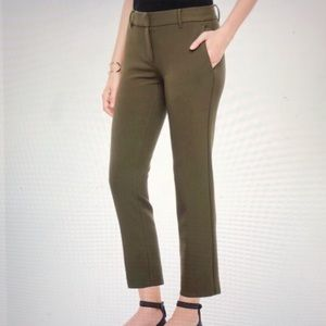 NWOT Ann Taylor Olive Green Devin Fit Crop Pants